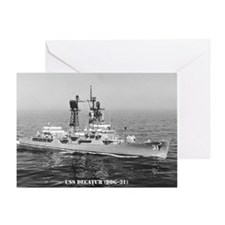 USS DECATUR Greeting Card