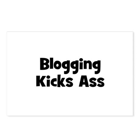 Blogging Kicks Ass Postcards (Package of 8)