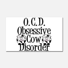 Obsessive Cow Disorder Car Magnet 20 x 12
