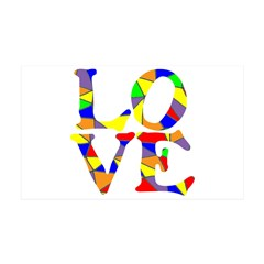 LOVE STAINED GLASS WINDOW 38.5 x 24.5 Wall Peel