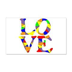 LOVE STAINED GLASS WINDOW 22x14 Wall Peel