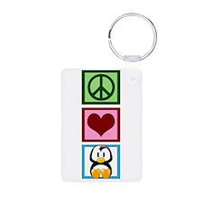 Peace Love Penguins Keychains