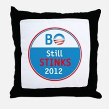 Obama Stinks Throw Pillow