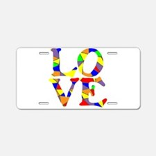 LOVE STAINED GLASS WINDOW Aluminum License Plate