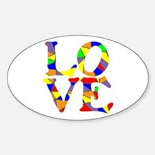 LOVE STAINED GLASS WINDOW Decal