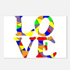 LOVE STAINED GLASS WINDOW Postcards (Package of 8)