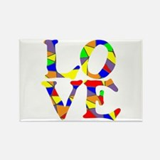 LOVE STAINED GLASS WINDOW Rectangle Magnet