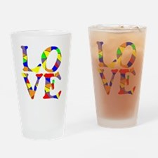 LOVE STAINED GLASS WINDOW Drinking Glass