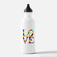 LOVE STAINED GLASS WINDOW Water Bottle