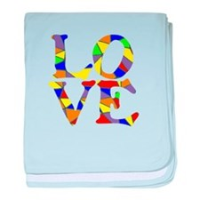 LOVE STAINED GLASS WINDOW baby blanket