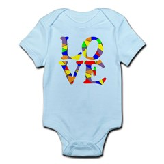 LOVE STAINED GLASS WINDOW Infant Bodysuit