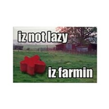 lolmeeple farming Rectangle Magnet