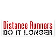 Distance Runners Do It Longer Car Sticker