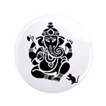 "Ganesha 100 Pack 3.5"" Button (100 Pack)"