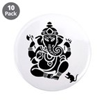 "Ganesha 10 Pack 3.5"" Button (10 Pack)"