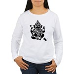 Ganesha Women's White Long Sleeve T-Shirt