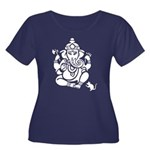 Ganesha Women's Scoop Neck Dark Plus Size T-Sh