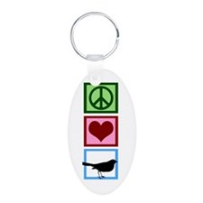 Peace Love Birds Keychains