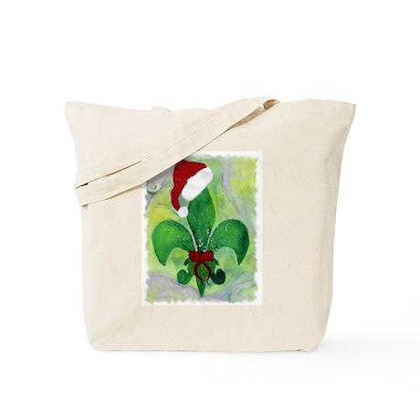 Christmas Fleur de lis Tote Bag
