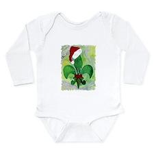 Christmas Fleur de lis Long Sleeve Infant Bodysuit