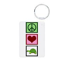 Peace Love Turtles Keychains