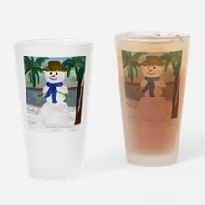 ISLAND SNOWMAN Drinking Glass