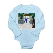 ISLAND SNOWMAN Long Sleeve Infant Bodysuit