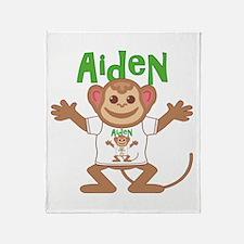 Little Monkey Aiden Throw Blanket