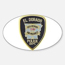 El Dorado Police Department Sticker (Oval)