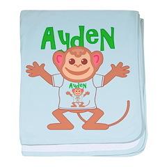 Little Monkey Ayden baby blanket