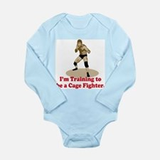 Cage Fighter Long Sleeve Infant Bodysuit