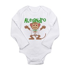 Little Monkey Alejandro Long Sleeve Infant Bodysui
