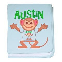 Little Monkey Austin baby blanket