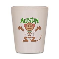 Little Monkey Austin Shot Glass