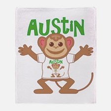 Little Monkey Austin Throw Blanket