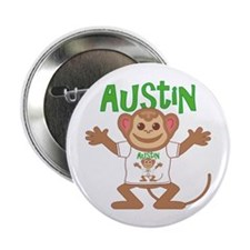 "Little Monkey Austin 2.25"" Button"