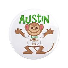 "Little Monkey Austin 3.5"" Button"
