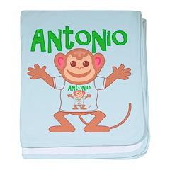 Little Monkey Antonio baby blanket