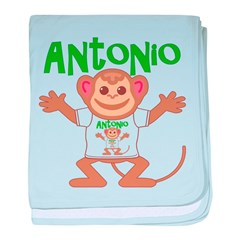 Little Monkey Antonio baby blanket