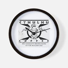 Cthulhu Coffee Wall Clock