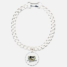 Border Collie Overachiever Charm Bracelet, One Cha