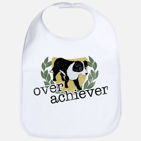 Border Collie Overachiever Bib