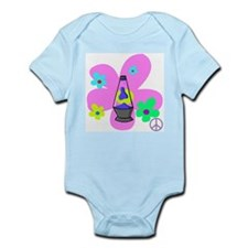 Peace Lava Lamp Infant Bodysuit