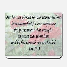 Isaiah 53:5 Mousepad