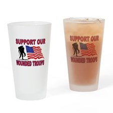 SUPPORT THEM Drinking Glass