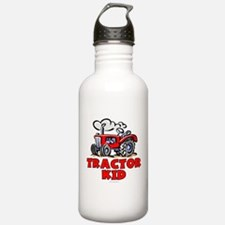 Red Tractor Kid Water Bottle