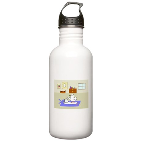 Massage Stainless Water Bottle 1.0L