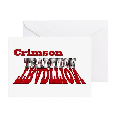 Crimson Tradition Greeting Card