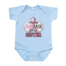 I Support 2nd Base for my Sis Infant Bodysuit