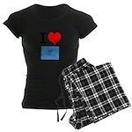 I Heart Photo t-shirt shop Women's Dark Pajamas